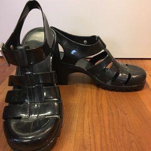 Black Gel Heels